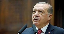 נשיא טורקיה רג'פ טאיפ ארדואן 25.7.17, צילום: איי אף פי