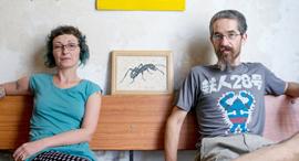 נועם כוזר ולידיה מלטין במשרדי בר קיימא, צילום: אוהד צויגנברג