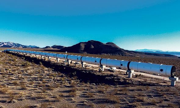 ניסויים של Hyperloop One להקמת רכבת מהירה בנוואדה