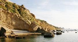 צוק חוף אפולוניה הרצליה ירוקים, צילום: דרור עזרא