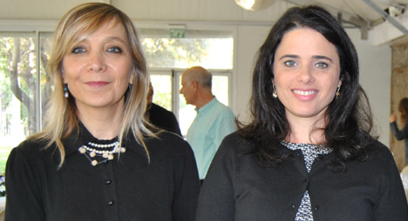 From left: Emi Palmor and Ayelet Shaked. Photo: Sharona Mazalian
