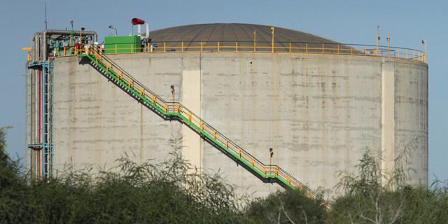 מיכל האמוניה מפרץ חיפה, צילום: זהר שחר