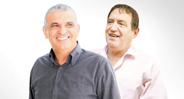 מימין רוני קוברובסקי עם משה כחלון, צילום: אלעד גרשגורן, אוראל כהן