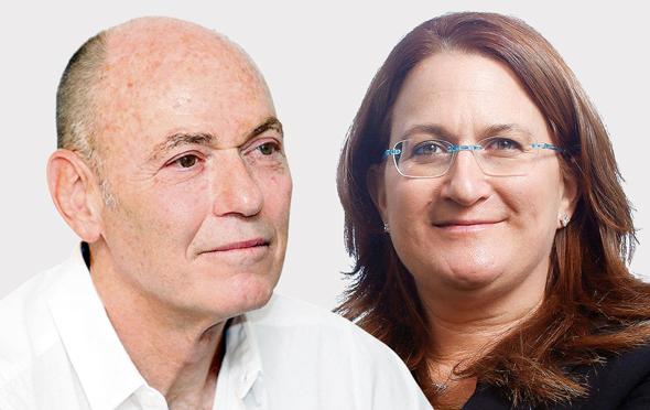 """יו""""ר עזריאלי דנה עזריאלי ו מנכ""""ל קסטרו גבי רוטר, צילומים: עמית שעל, אוראל כהן"""