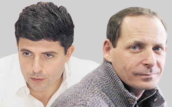 "מימין מנכ""ל ומייסד גט שחר וייסר ומנכ""ל יאנדקס ארקדי וולוז'"