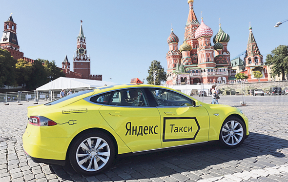 Yandex taxi. Photo: Bloomberg
