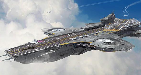 נושאת מטוסים מעופפת? שתישאר בקומיקס ובסרטים