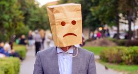 עצוב פרצוף עצוב עובדים מאושרים, צילום: שאטרסטוק