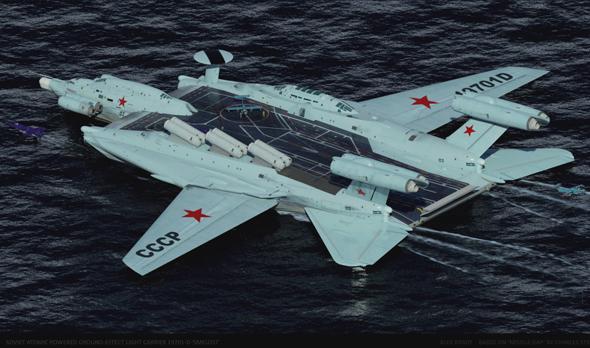 עיצוב של נושאת מטוסים רוסית בתצורת אקרנופלן, עליה אספר לכם בפעם אחרת