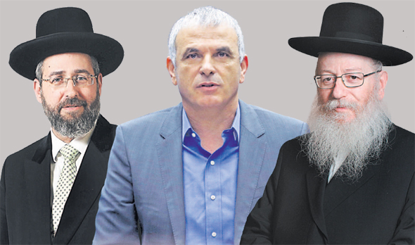 מימין יעקב ליצמן משה כחלון ו דוד לאו, צילומים: עמית שעל, עמית שאבי, אלכס קולומויסקי