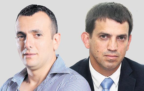 """ראש אגף תקציבים באוצר מרידור (מימין) ומנכ""""ל משרד האוצר באב""""ד, צילומים: עמית שאבי, אוראל כהן"""