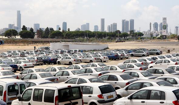 A car lot. Photo: Orel Cohen