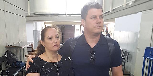 יוכלמן ובעלה בבית המשפט, צילום: אביב גוטר
