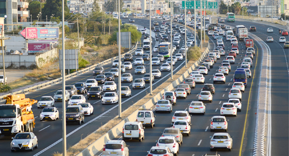 Traffic in Israel. Photo: Yuval Chen