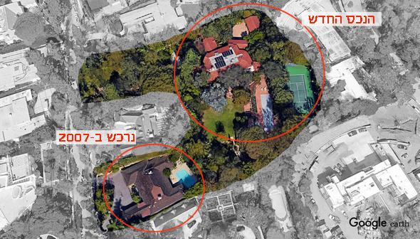 אחוזה ג'ף בזוס בוורלי הילס לוס אנג'לס, צילום: google earth