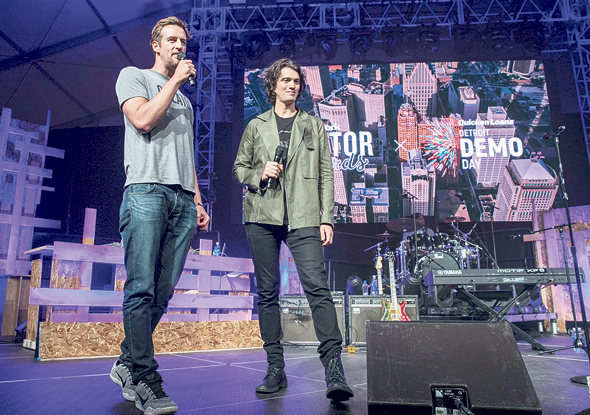 WeWork co-founders Miguel McKelvy and Adam Neumann. Photo:AFP