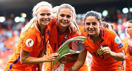 נבחרת הולנד חוגגת את הזכייה השנה, צילום: גטי אימג'ס