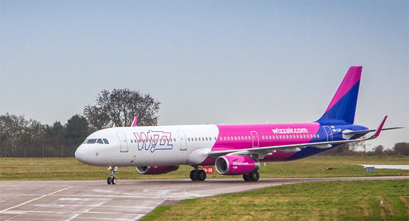 מטוס של חברת ה תעופה וויזאייר Wizz Air לואו קוסט, צילום: Wizz Air
