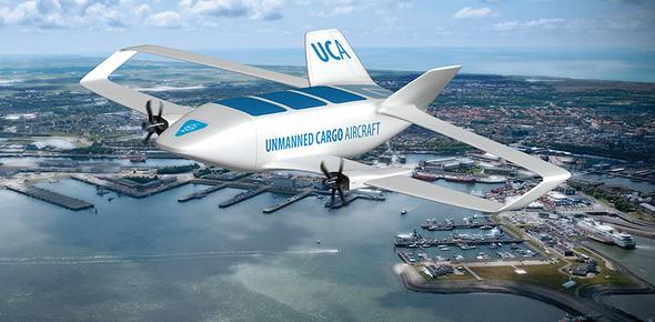 עיצוב קונספט של מטוס תובלה אוטונומי