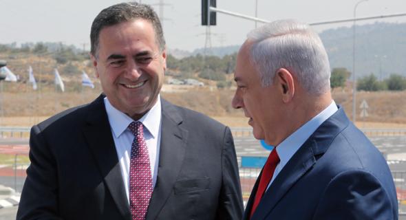 ראש הממשלה בנימין נתניהו שר התחבורה ישראל כץ, צילום: ששון תירם