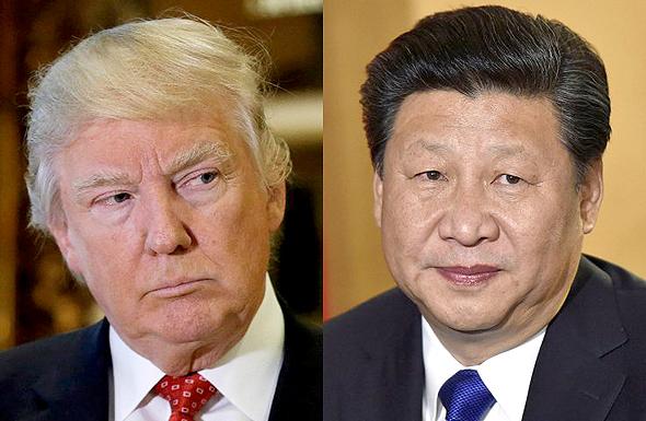 """מנהיג סין שי ג'ינפינג נשיא ארה""""ב דונלד טראמפ , צילום: רויטרס"""