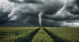 פוטו מזג אוויר סוער טורנדו בשדה , צילום: גטי אימג'ס