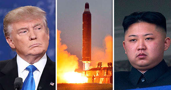 """מימין מנהיג צפון קוריאה קים ג'ונג און ונשיא ארה""""ב דונלד טראמפ, צילום: Youtube"""