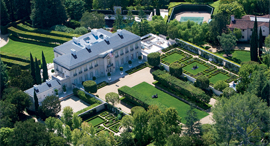 """הבית היקר ביותר ארה""""ב בוורלי הילס אחוזה ב ברלי היליביליס, צילום: Coldwell Banker"""