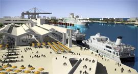 נמל חיפה, הדמייה: עיריית חיפה