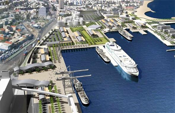 חזית הים העירונית נמל חיפה 3, הדמייה: עיריית חיפה