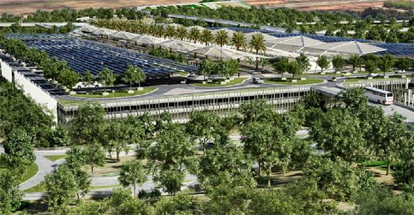 הדמיית החניון הענק בשפיים, הדמייה: משרד פרחי צפריר אדריכלים