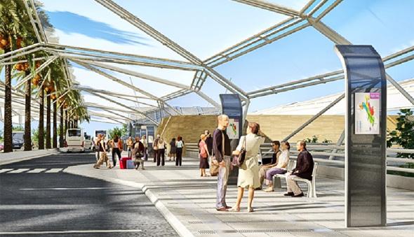 הדמיית תחנת רכבת בשפיים, הדמייה: משרד פרחי צפריר אדריכלים