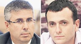 """מימין מנכ""""ל האוצר שי באב""""ד ומנהל רשות המסים משה אשר, צילום: אלכס קולומויסקי , עומר מסינגר"""