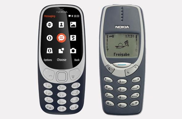 נוקיה 3310. מימין המקורי, משמאל הדגם החדש