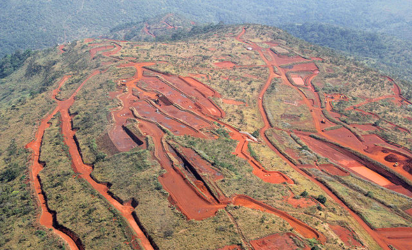 מכרה סימאנדו סימנדאו Simandou ב גינאה, צילום: אתר חברת riotinto