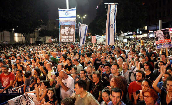 """תל אביב, 2011. """"פייסבוק מצוין לארגון הפגנות, אבל הוא גורם מעכב בבנייה של מנגנון קבלת החלטות"""""""