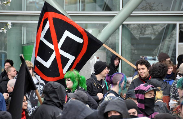 הפגנה נגד שנאה גזעית, צילום: The Georgia Straight