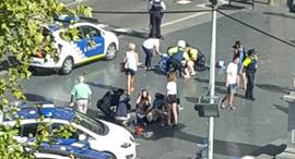 זירת הפיגוע בברצלונה, צילום: twitter