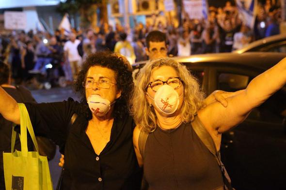 """מפגינות בפ""""ת, צילום: מוטי קמחי"""