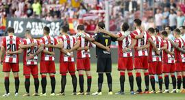 שחקני ז'ירונה מהליגה הספרדית לה ליגה , צילום: אי פי איי