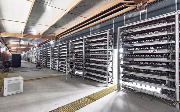 Cryptocurrency mine. Photo: Bloomberg