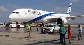 מטוס בואינג 787 דרימליינר אל על החדש נחת בישראל, צילום: עוזי בלומר
