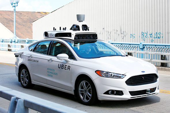המכונית האוטונומית של אובר, צילום: איי פי