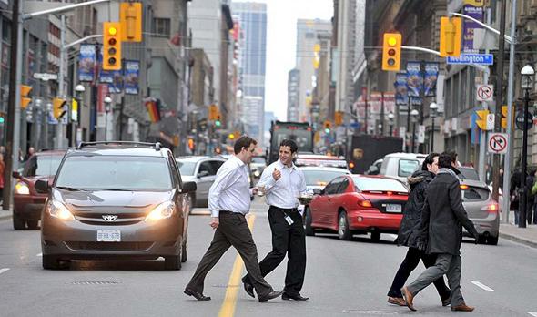 Pedestrians in Toronto