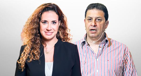 """מימין: רון אילון מנכ""""ל yes וטל גרנות גולדשטיין מנכ""""לית HOT"""