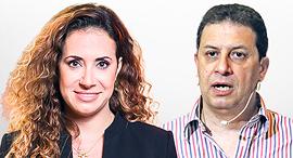 רון אילון מנכל yes טל גרנות גולדשטיין מנכלית הוט, צילום: אריאל בשור, אוראל כהן