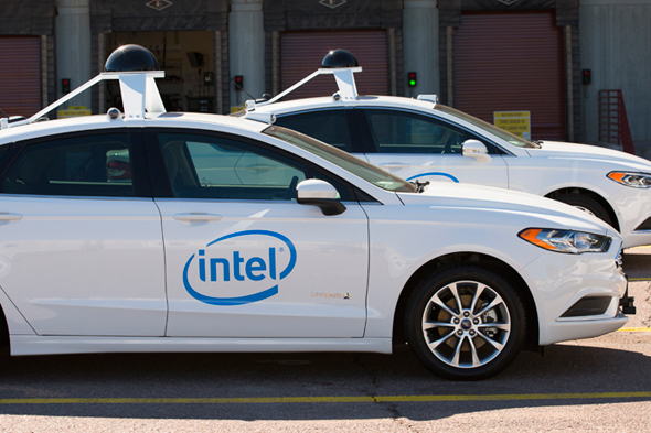 Intel's autonomous vehicles