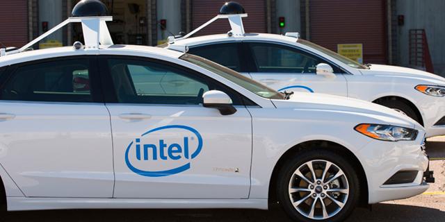 אינטל BMW נהיגה רכב אוטונומי מכונית אוטונומית, צילום: Intel Newsroom