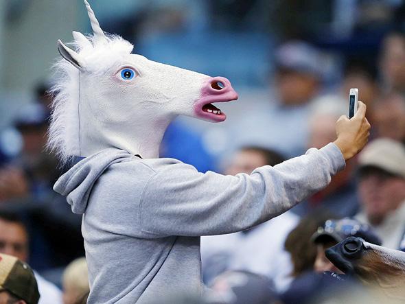 Unicorn selfie. Photo: Courtesy