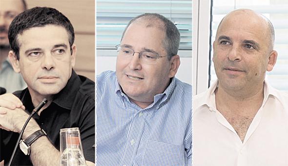 מימין איתי שטרום ניר גלעד ו מיכאל שראל, צילומים: עמית שעל, אוראל כהן, בשמת איבי